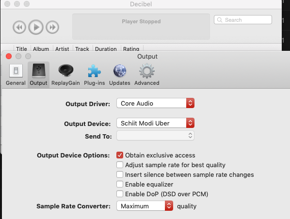 Bitperfect direct audio output to a DAC in Windows